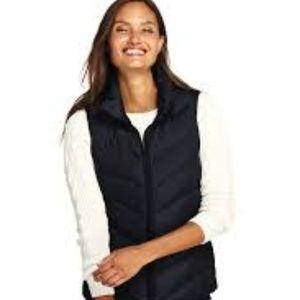 LANDS' END Black Down Puffer Vest XS (2-4) EUC